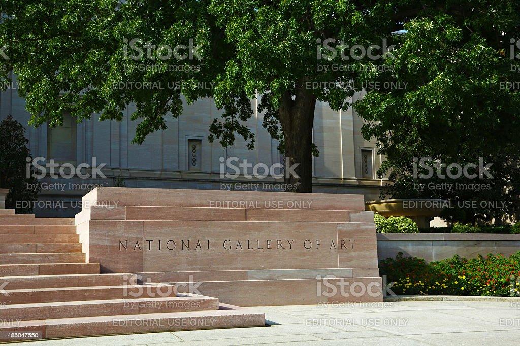 National Gallery in Washington stock photo