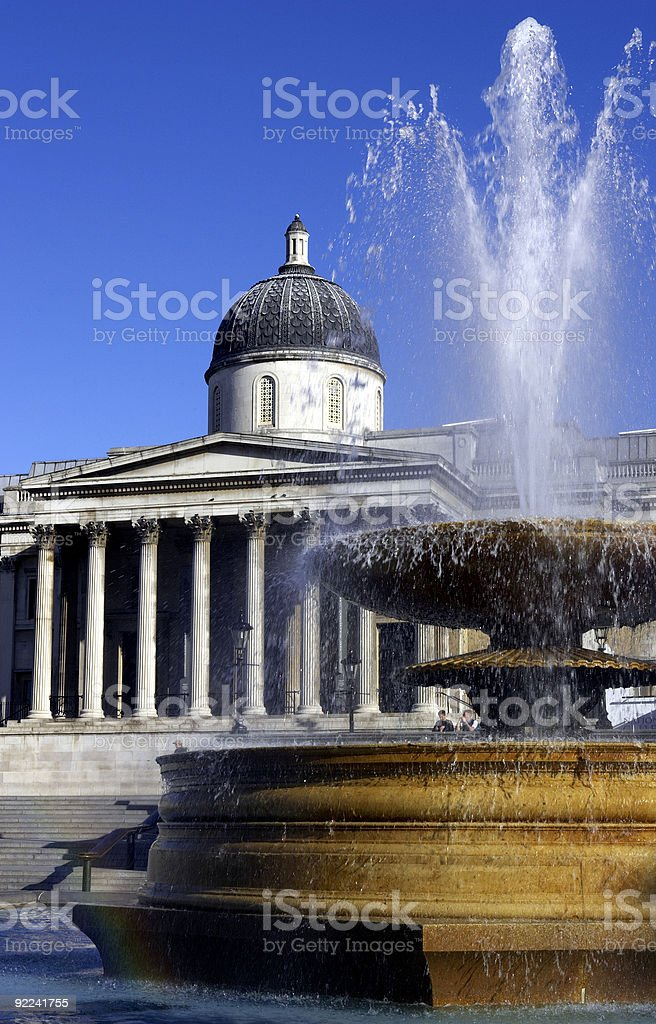 national gallery london royalty-free stock photo