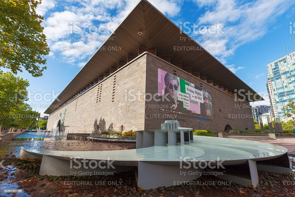National Gallery of Victoria exterior shot stock photo