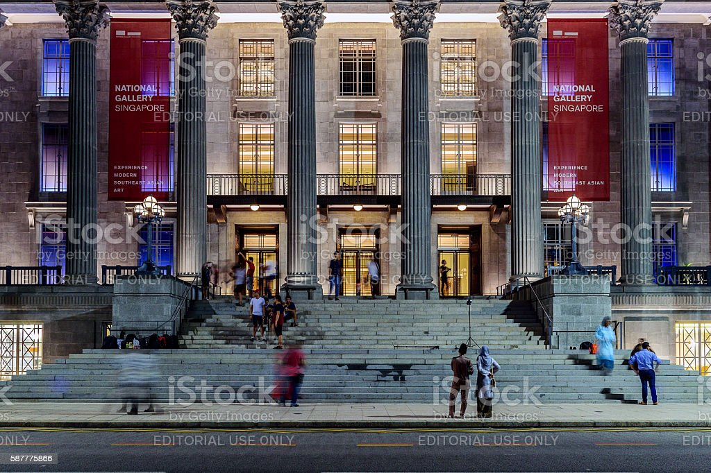 National Gallery, Singapore. stock photo