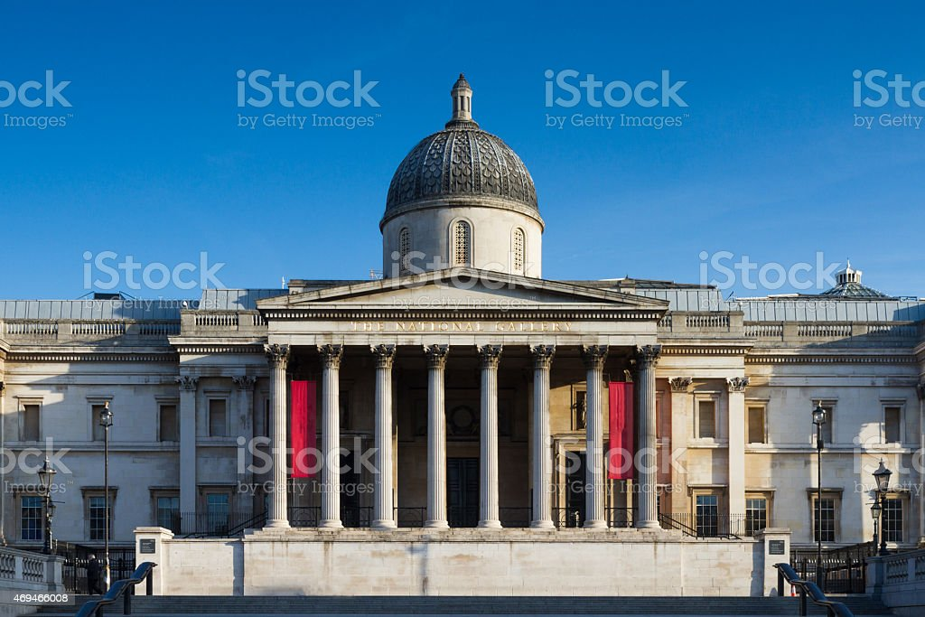 National Gallery under a blue sky stock photo