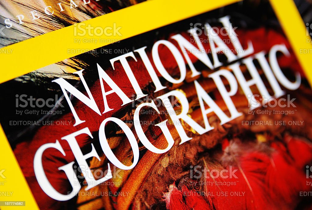 National Geographic cover close-up royalty-free stock photo