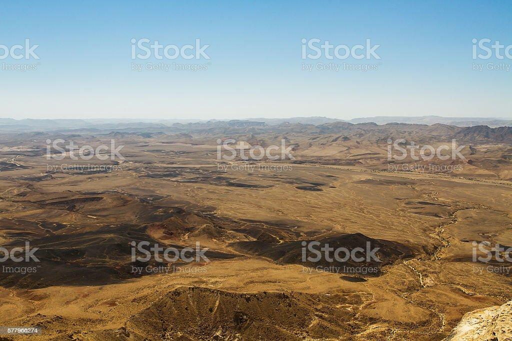 National geological park HaMakhtesh HaRamon. Israel . stock photo