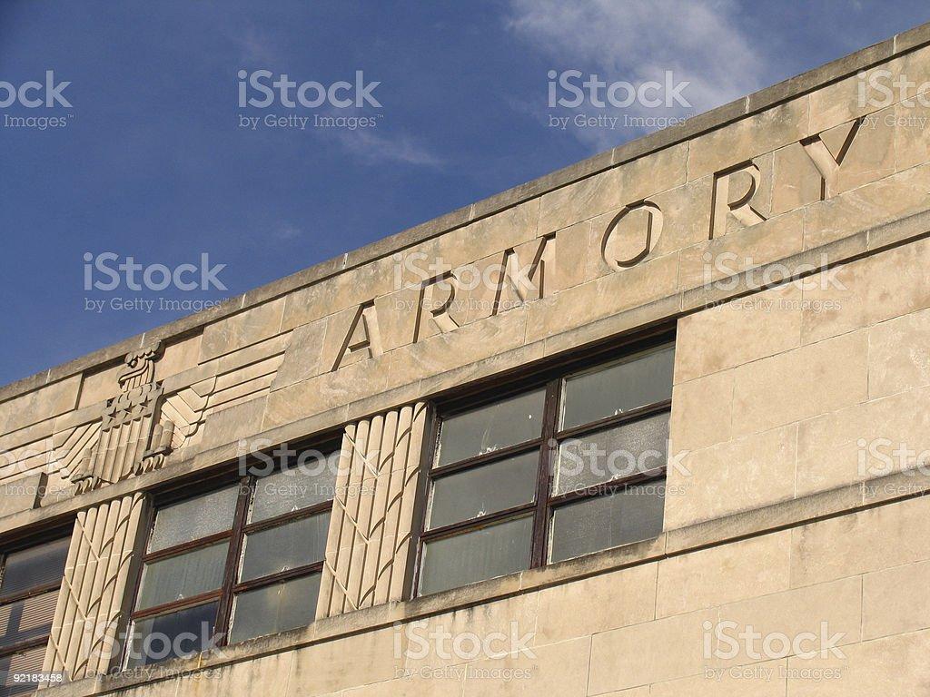 National Guard Armory stock photo