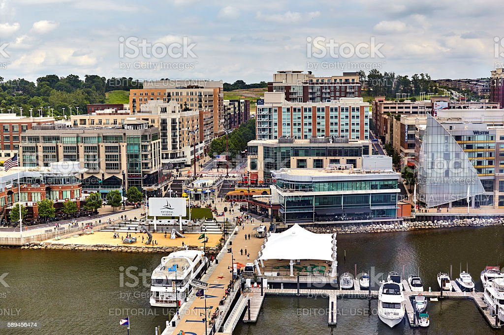 National Harbor, Ft. Washington,Maryland stock photo