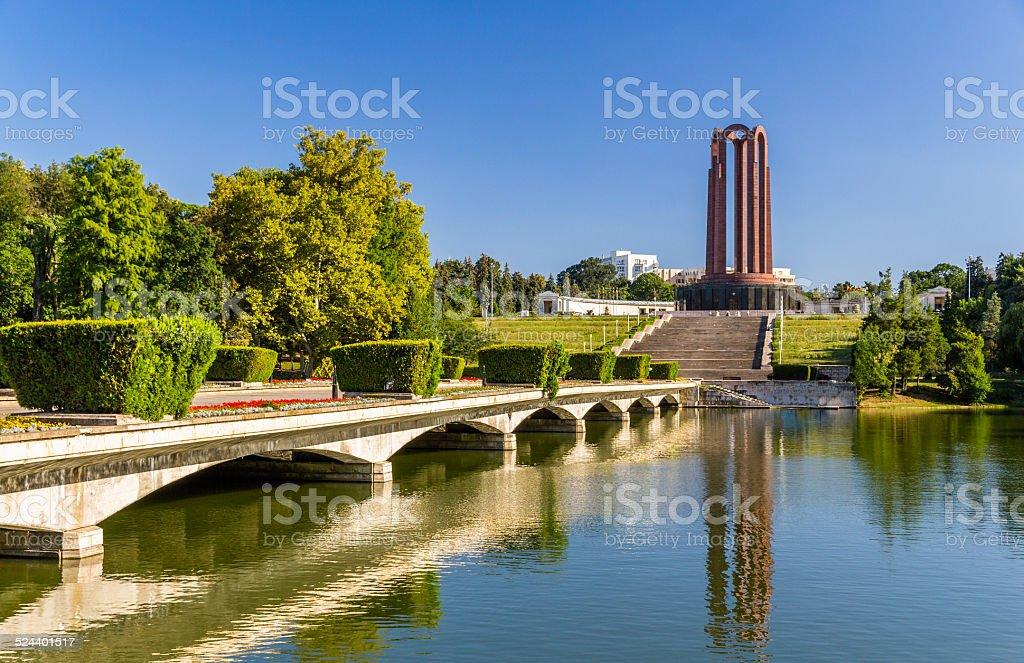 National Heroes Memorial in Carol Park - Bucharest, Romania stock photo