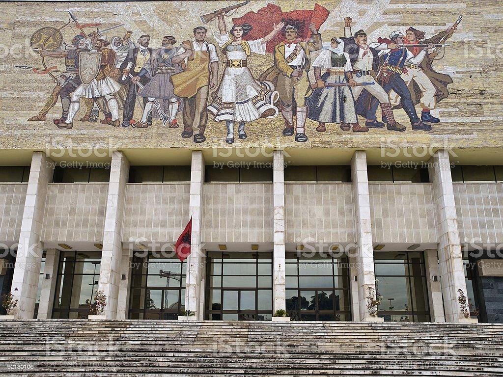 National Historial Museum, Tirana stock photo