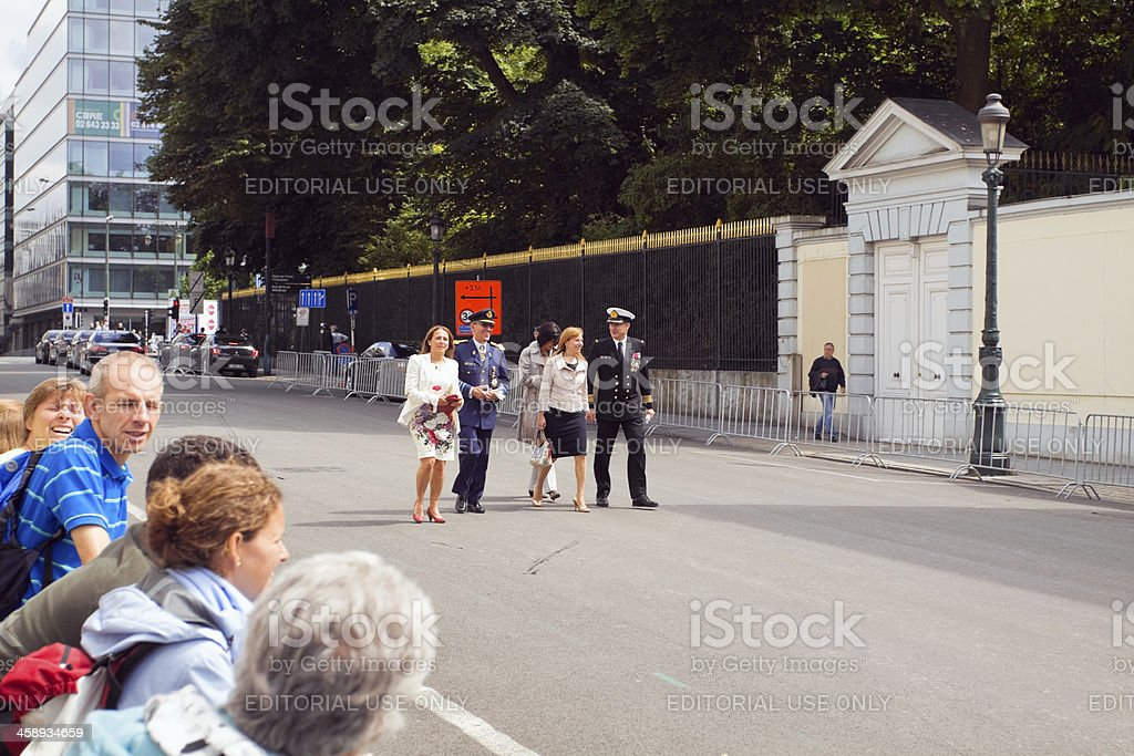 National holiday parade in Brussels royalty-free stock photo
