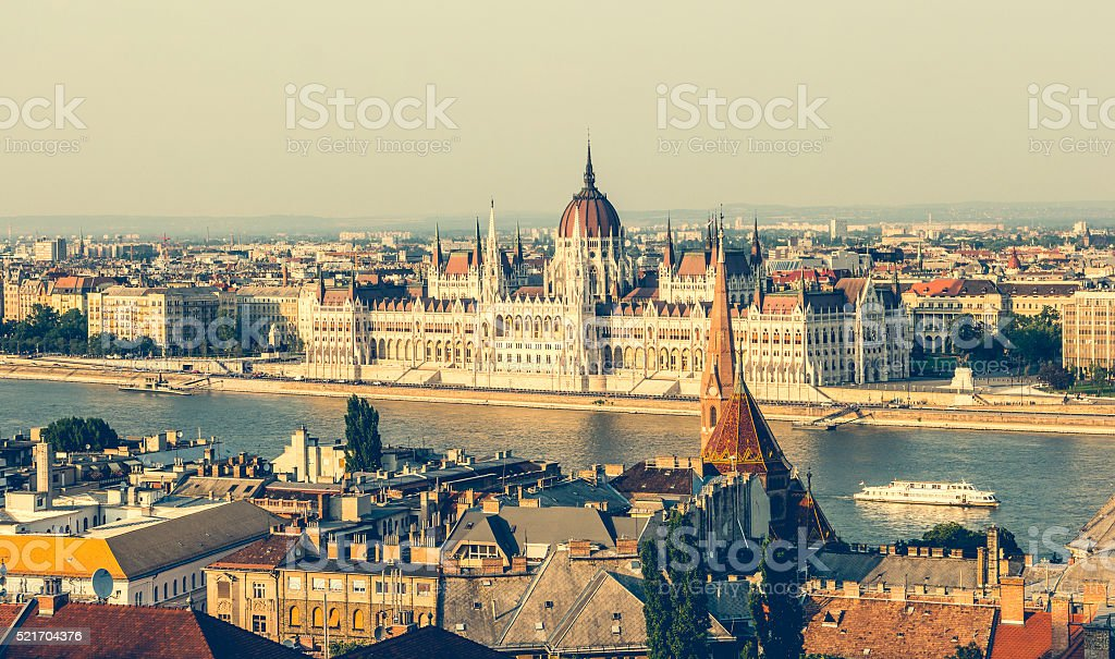 National Hungarian Parliament stock photo