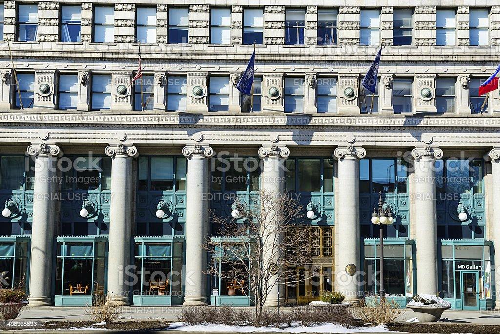National Louis University facade, Chicago stock photo
