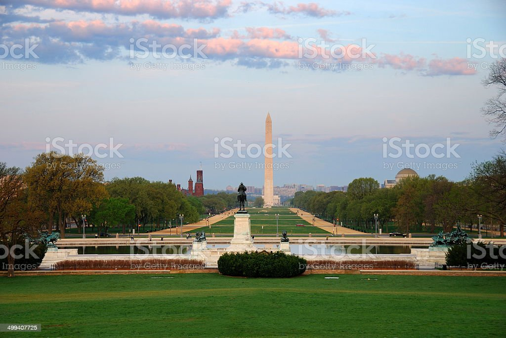 National Mall, Washington DC. stock photo