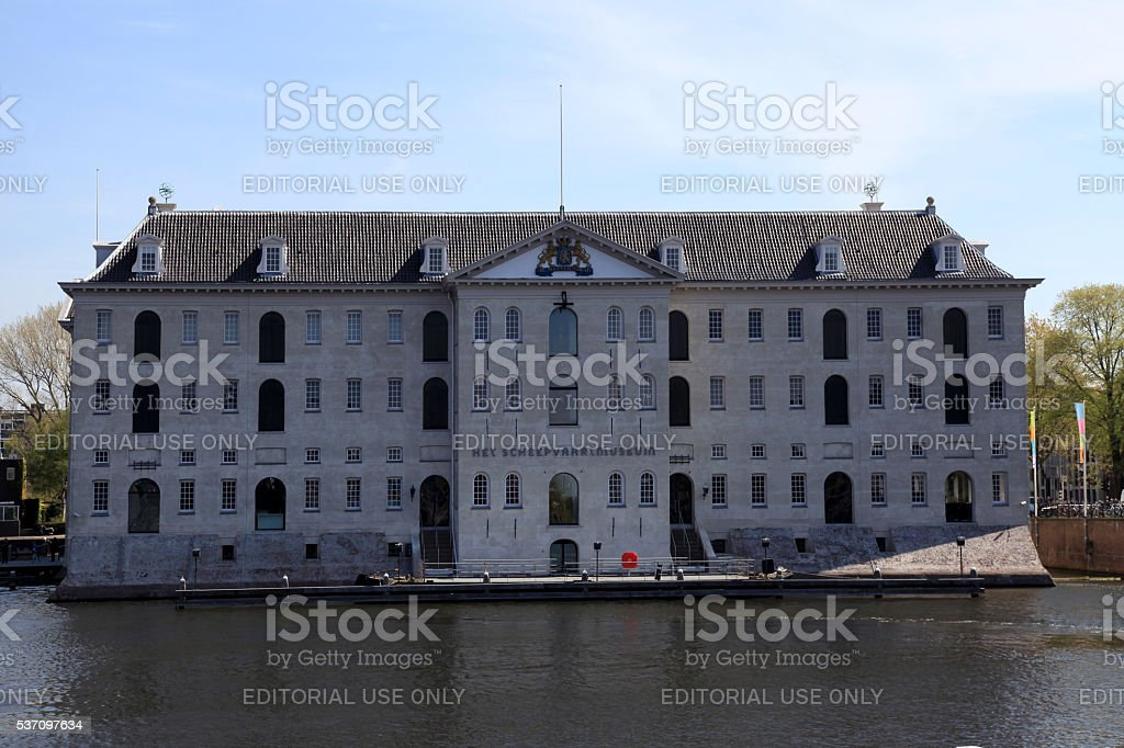 National Maritime Museum in Amsterdam, Netherlands stock photo