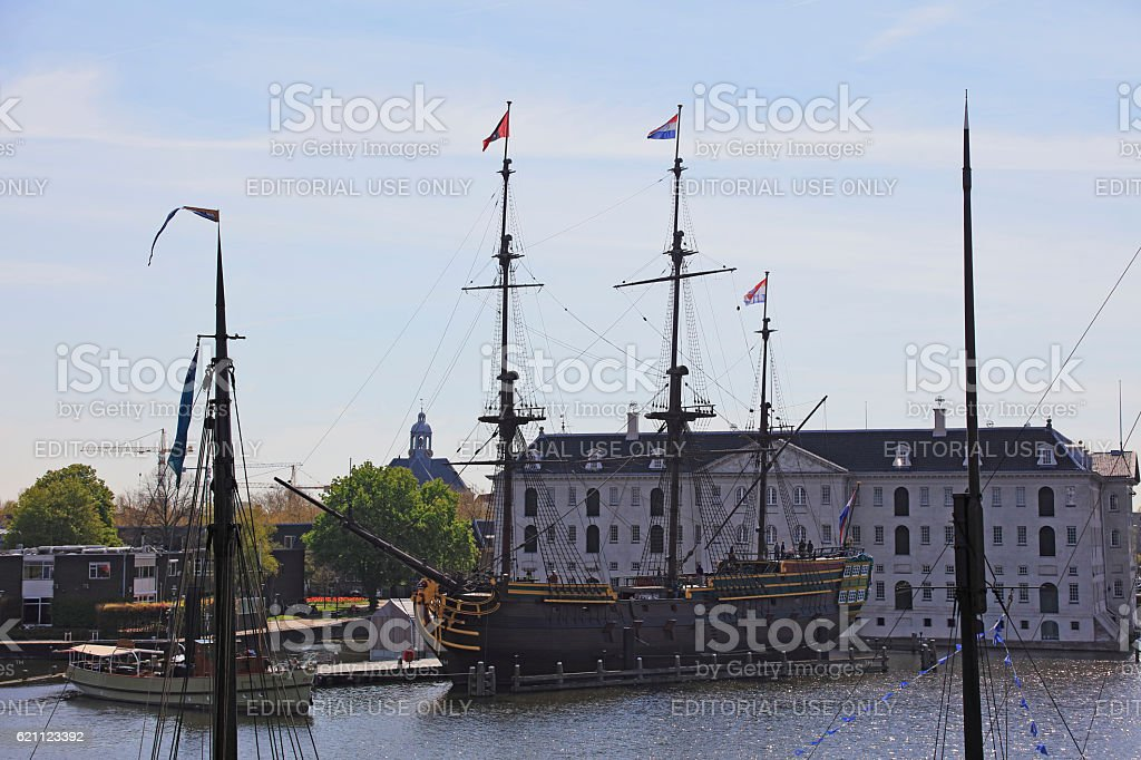 National Maritime Museum,Amsterdam, Netherlands stock photo