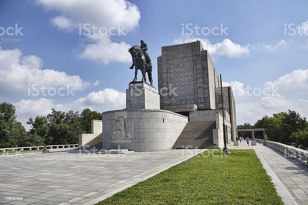 National memorial at Prague stock photo