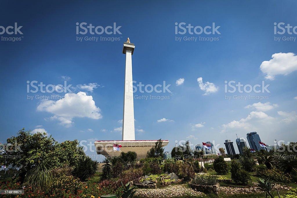 National Monument of Jakarta (Monas), Indonesia stock photo