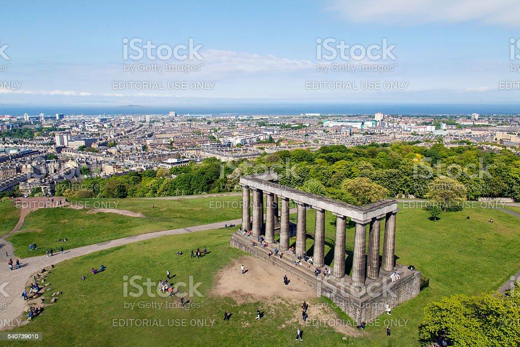 National Monument of Scotland - Edinburgh stock photo