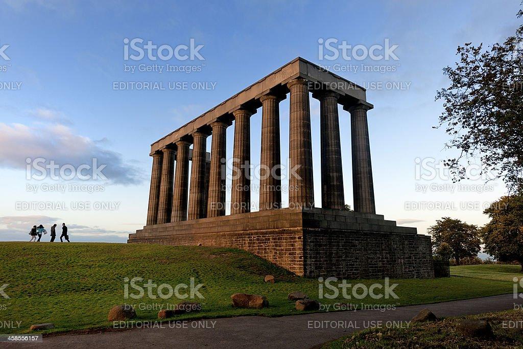 National Monument of Scotland in Edinburgh royalty-free stock photo