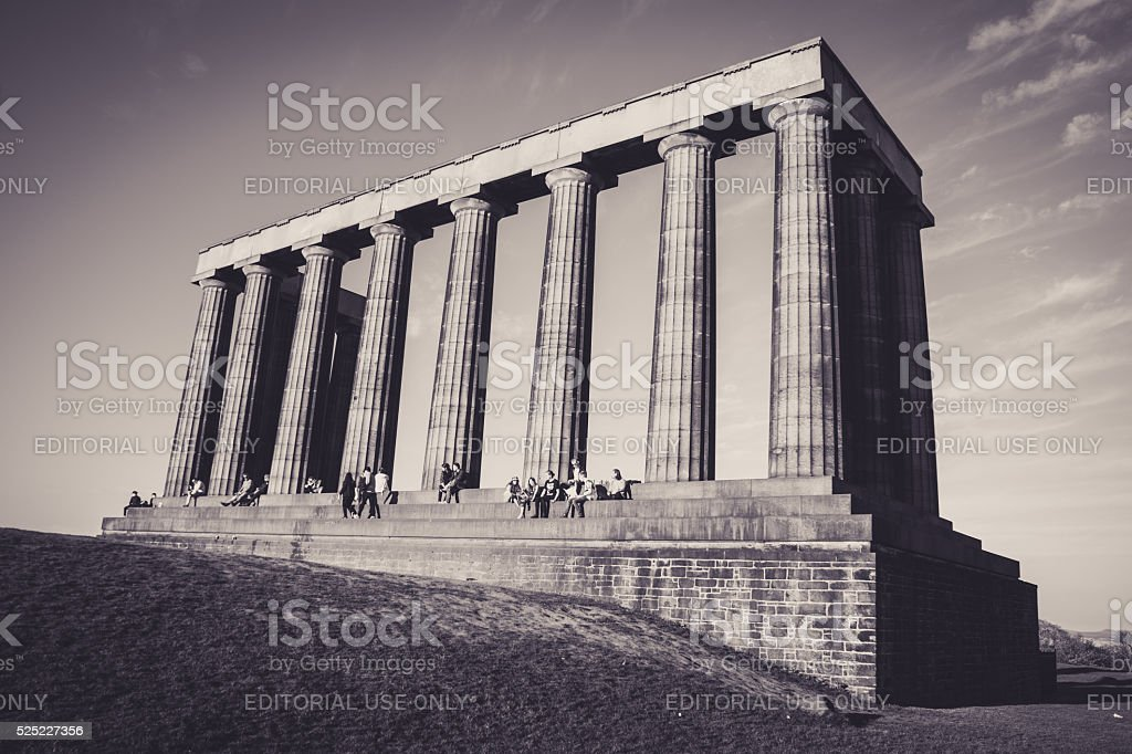 National Monument of Scotland stock photo