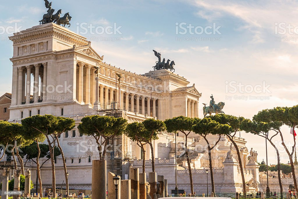 National Monument to Victor Emmanuel II in Rome stock photo