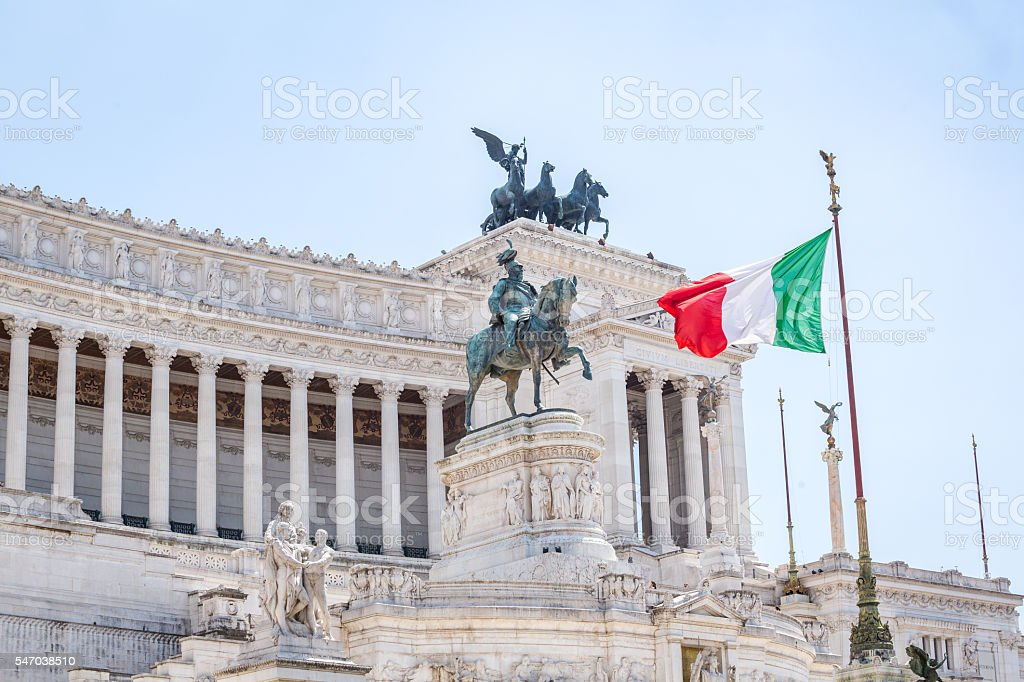 National Monument to Victor Emmanuel II, Piazza Venezia in Rome, stock photo