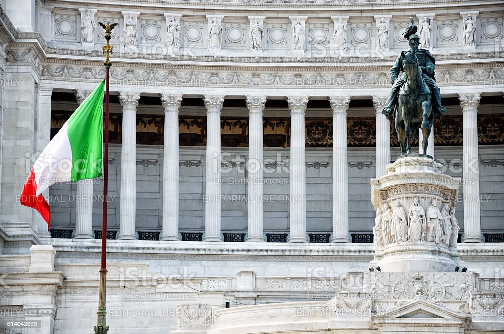 National Monument to Victor Emmanuel II, Roma stock photo