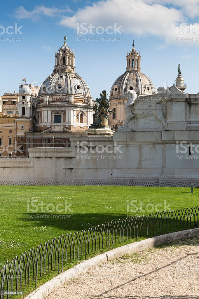 National Monument to Victor Emmanuel II, Rome, Italy stock photo