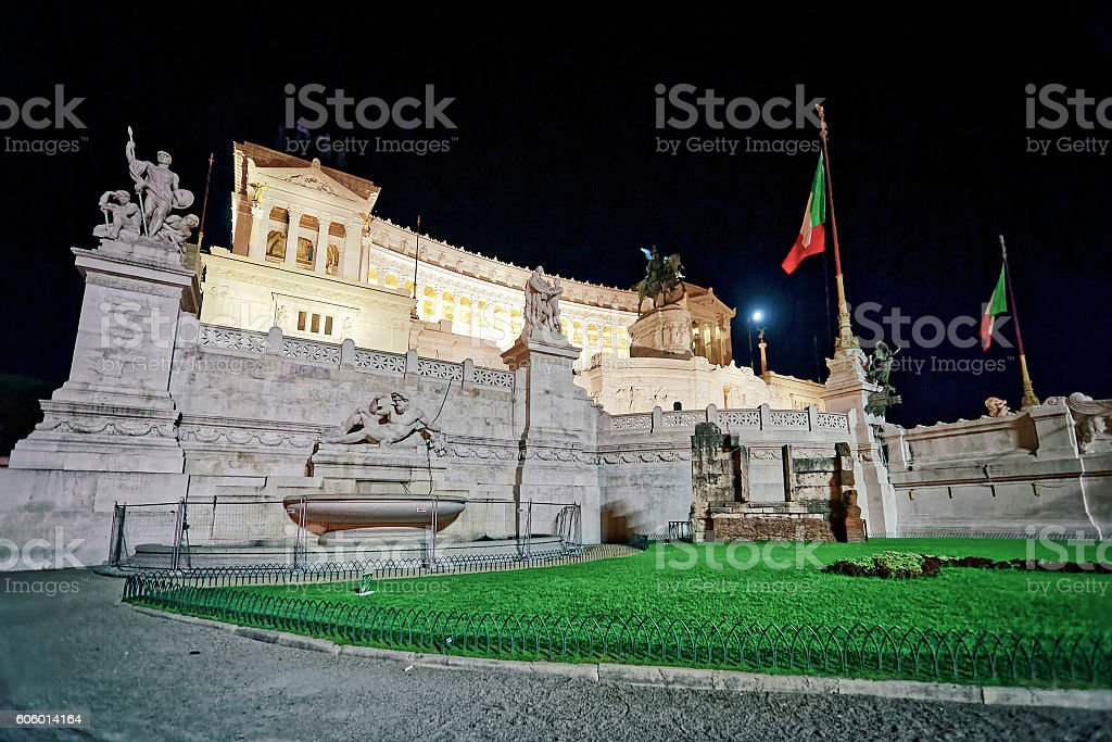 National Monument to Victor Emmanuel in Rome in Italy stock photo