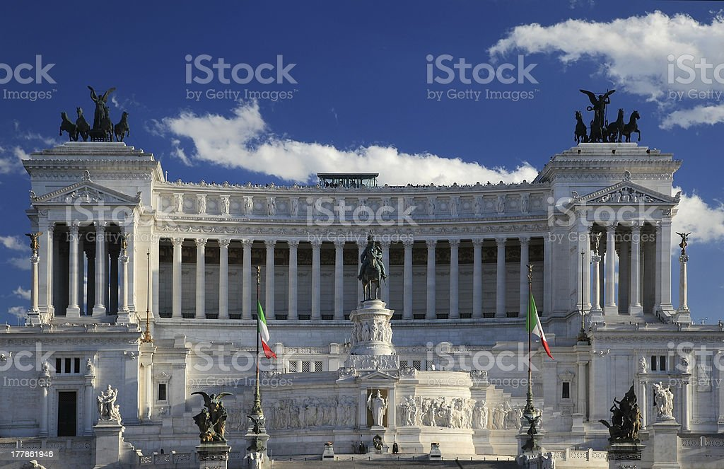 National monument to Vittorio Emanuele II,  Rome, Italy stock photo