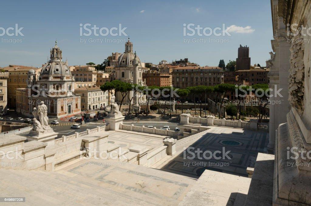 Monumento Nazionale a Vittorio Emanuele II/Piazza Venezia stock photo