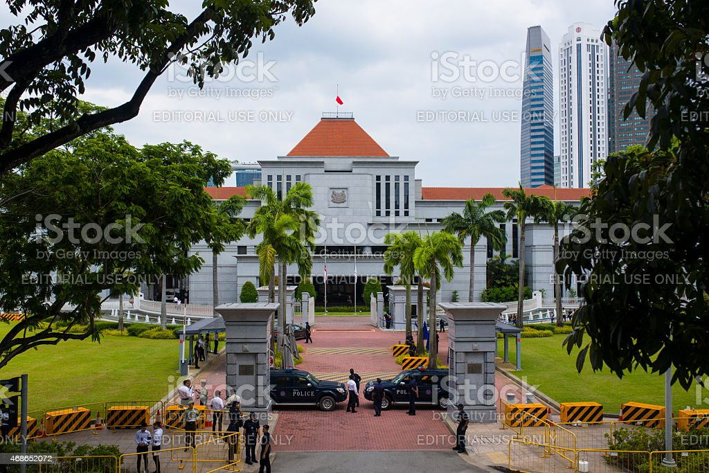 National Mourning of Lee Kuan Yew, Singapore stock photo