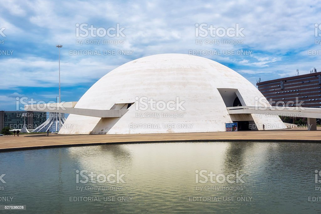 National Museum in Brasilia, Capital of Brazil stock photo