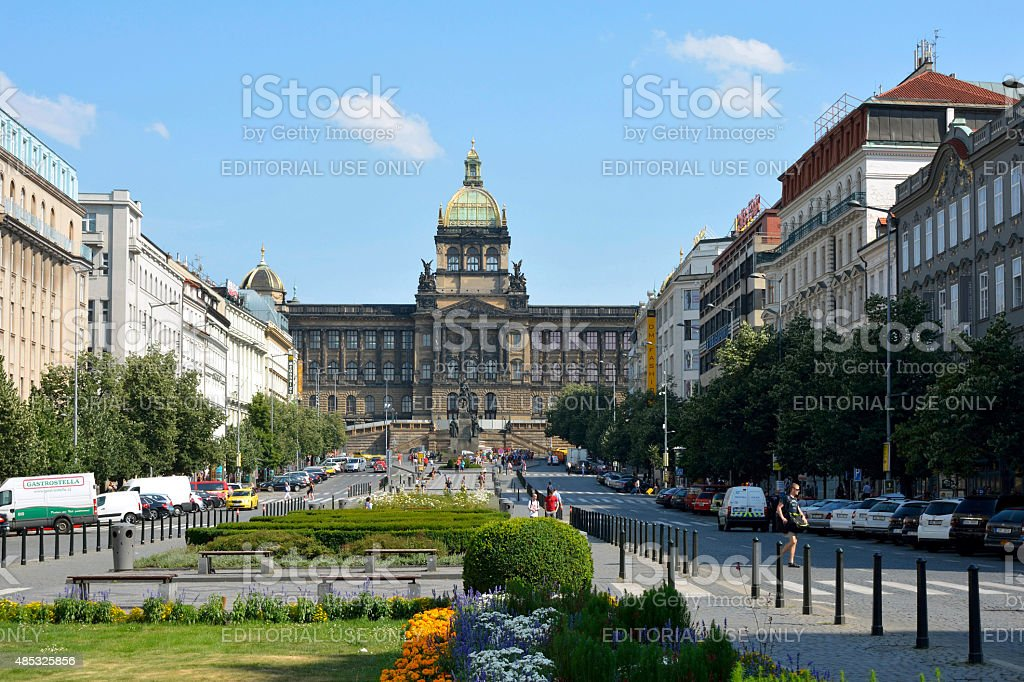 National museum in Prague - Czech Republic stock photo