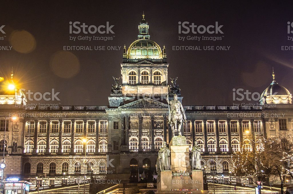 National Museum in Prague stock photo