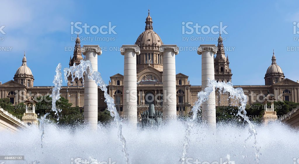 National museum MNAC stock photo