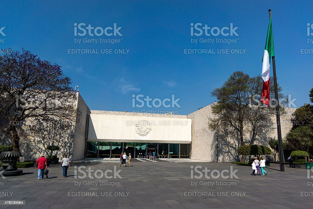 National Museum Of Anthropology In Mexico City stock photo