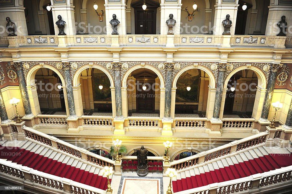 National museum Prague stock photo