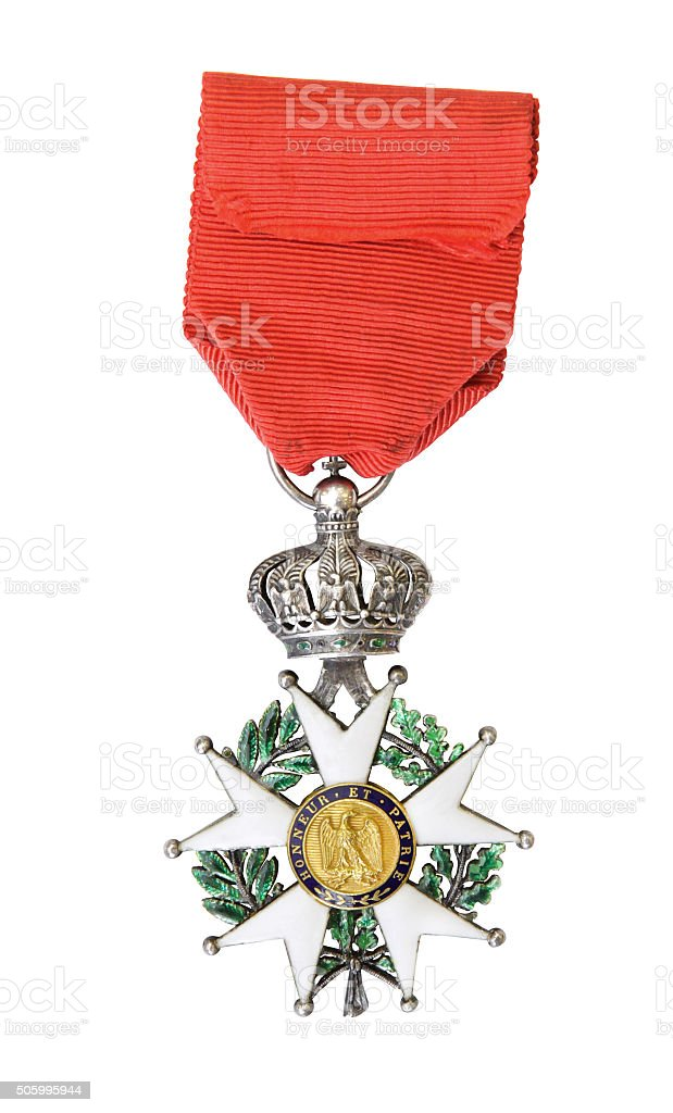 National Order of the Legion of Honour. France. Reverse stock photo