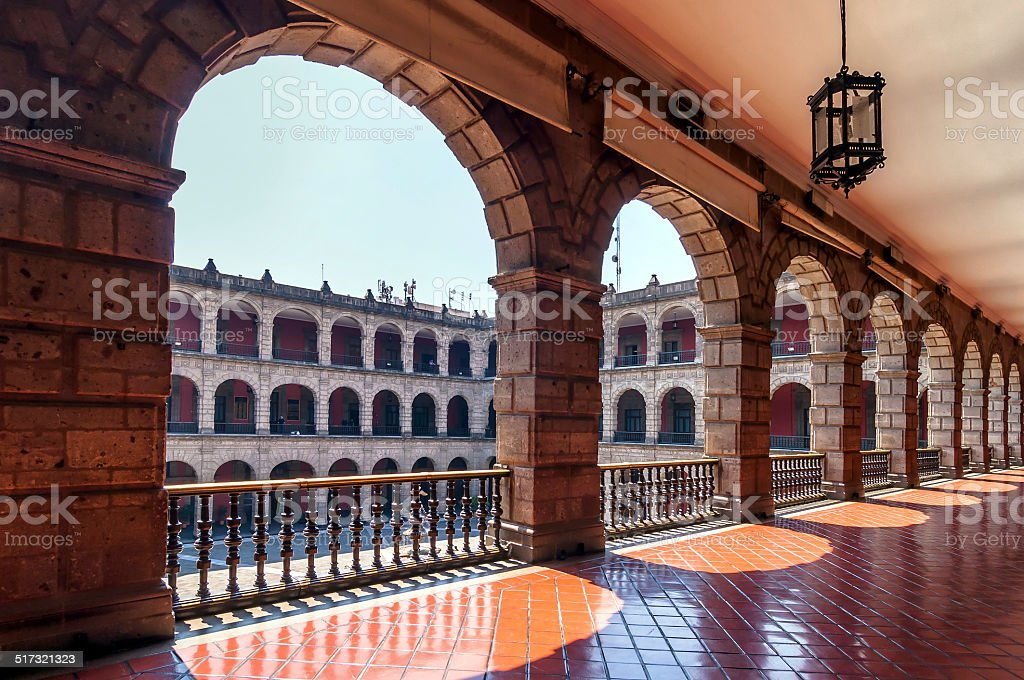 National Palace in Mexico City stock photo