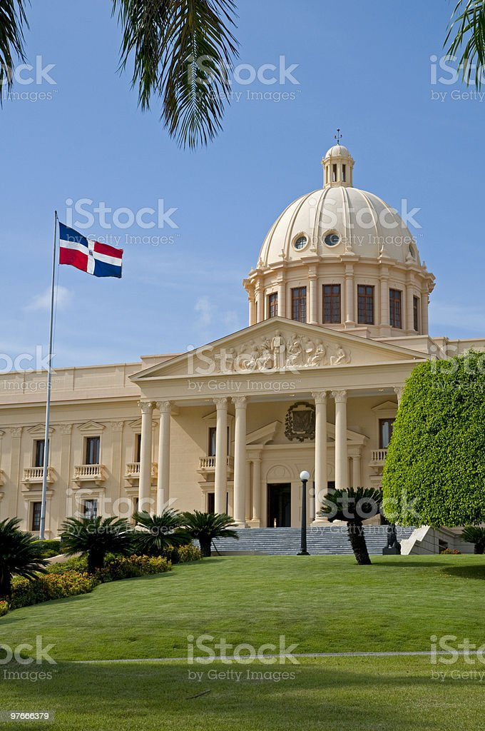 National Palace - Santo Domingo stock photo