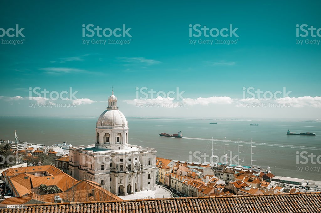 National Pantheon, in Lisbon stock photo