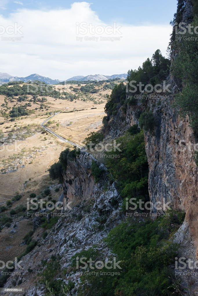 National park around Grazalema in Andalucia stock photo