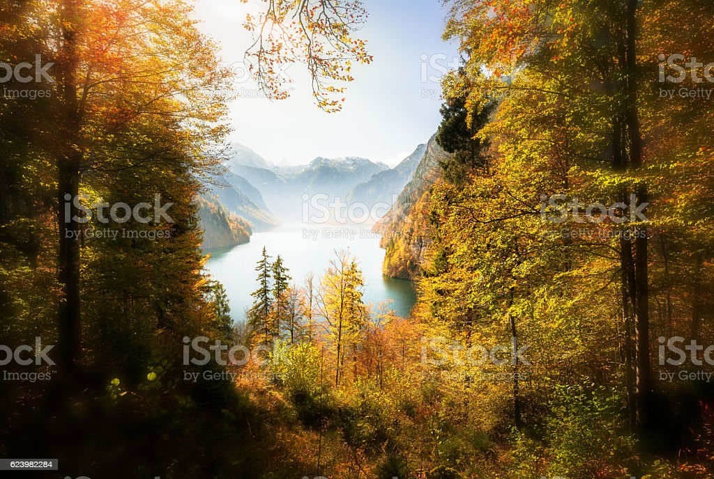 National Park Berchtesgaden stock photo