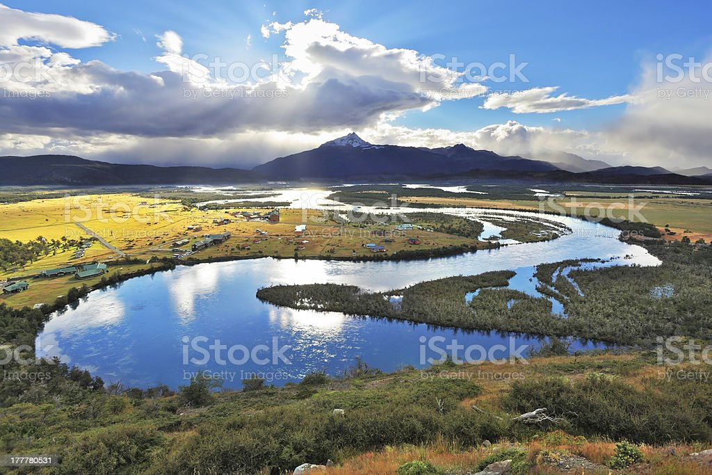 National Park Chile - Torres del Paine stock photo