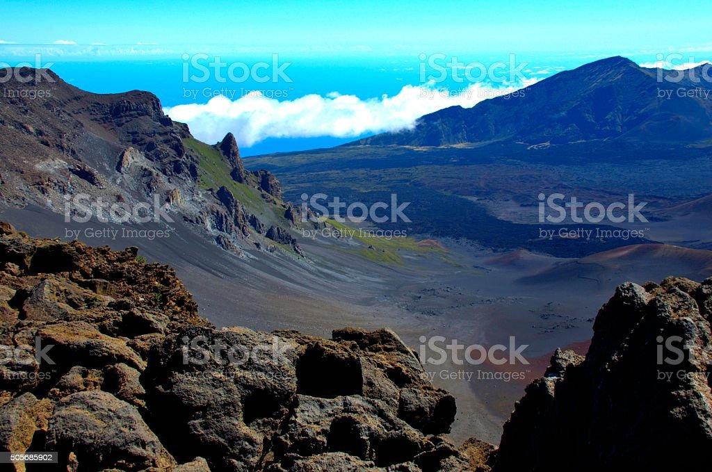 National park Haleakala, Maui, Hawaii stock photo