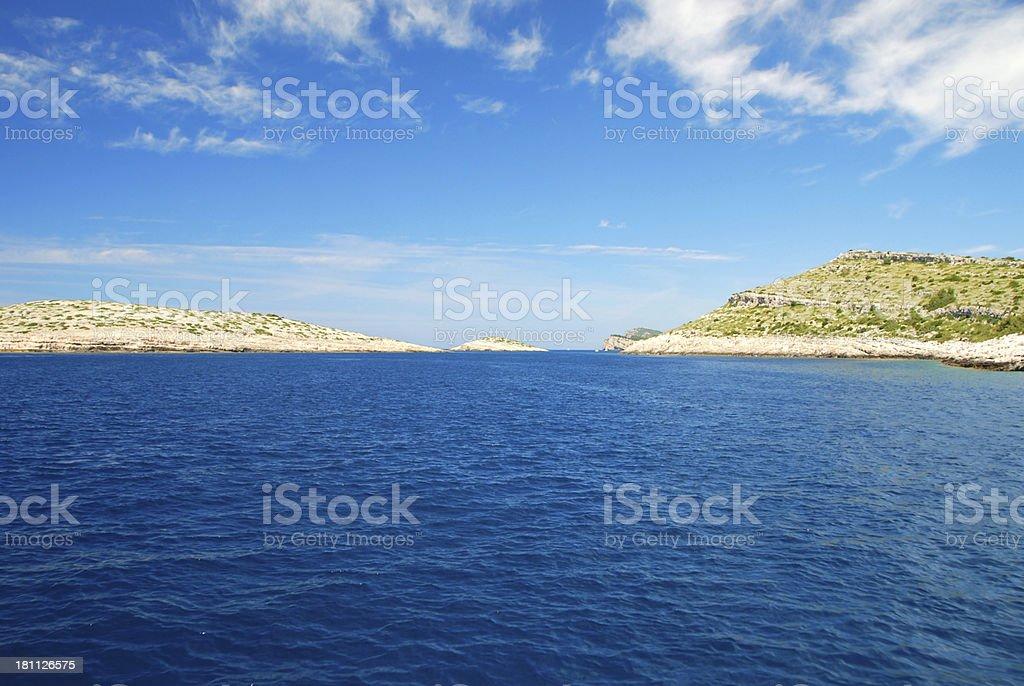 National Park Kornati royalty-free stock photo