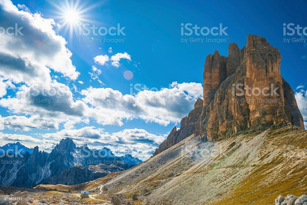 National park of Dolomites stock photo