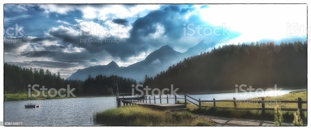 National Park - Panoramic image with border stock photo