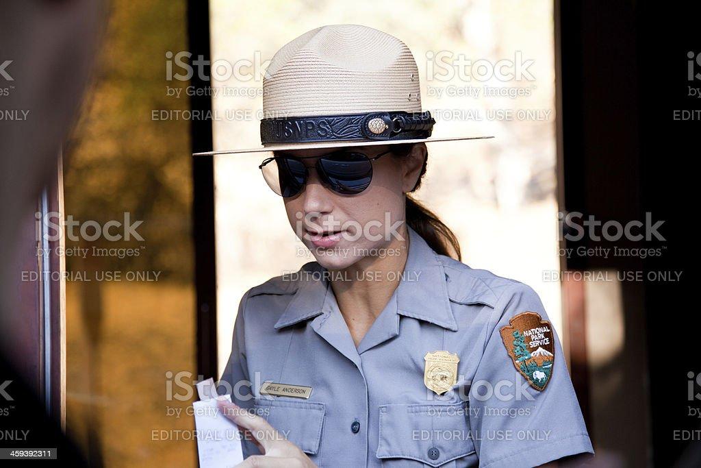 National Park Ranger stock photo