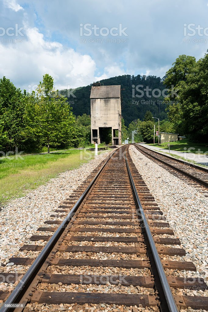 National Park Service town of Thurmond WV stock photo