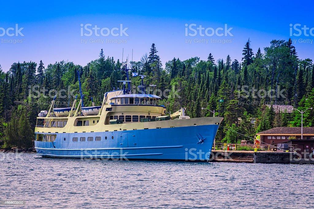 Sevice navio Parque Nacional Florestal III de Isle Royale foto royalty-free